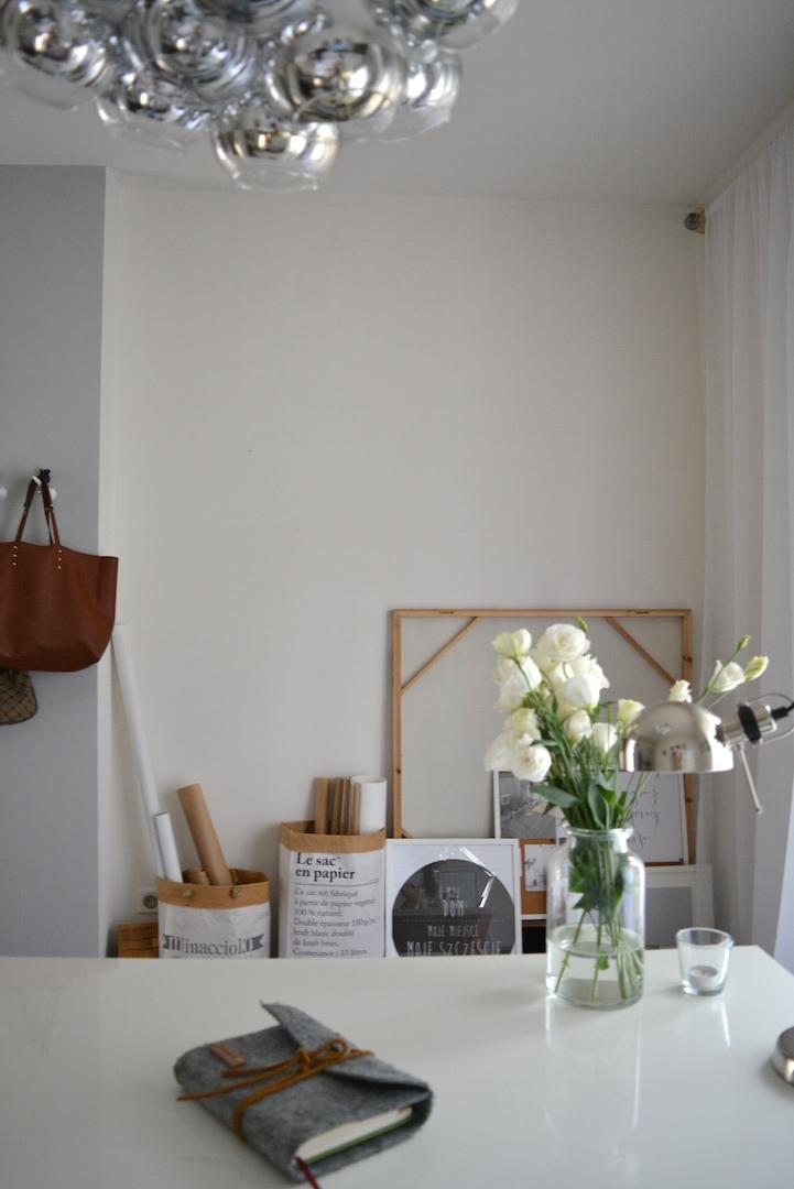 ściana tablicowa, farba tablicowa, pracownia, domowa pracownia, ściana inspiracji