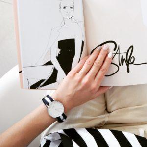 stylizacja paski, daniel wellinton, zegarek, nude i paski
