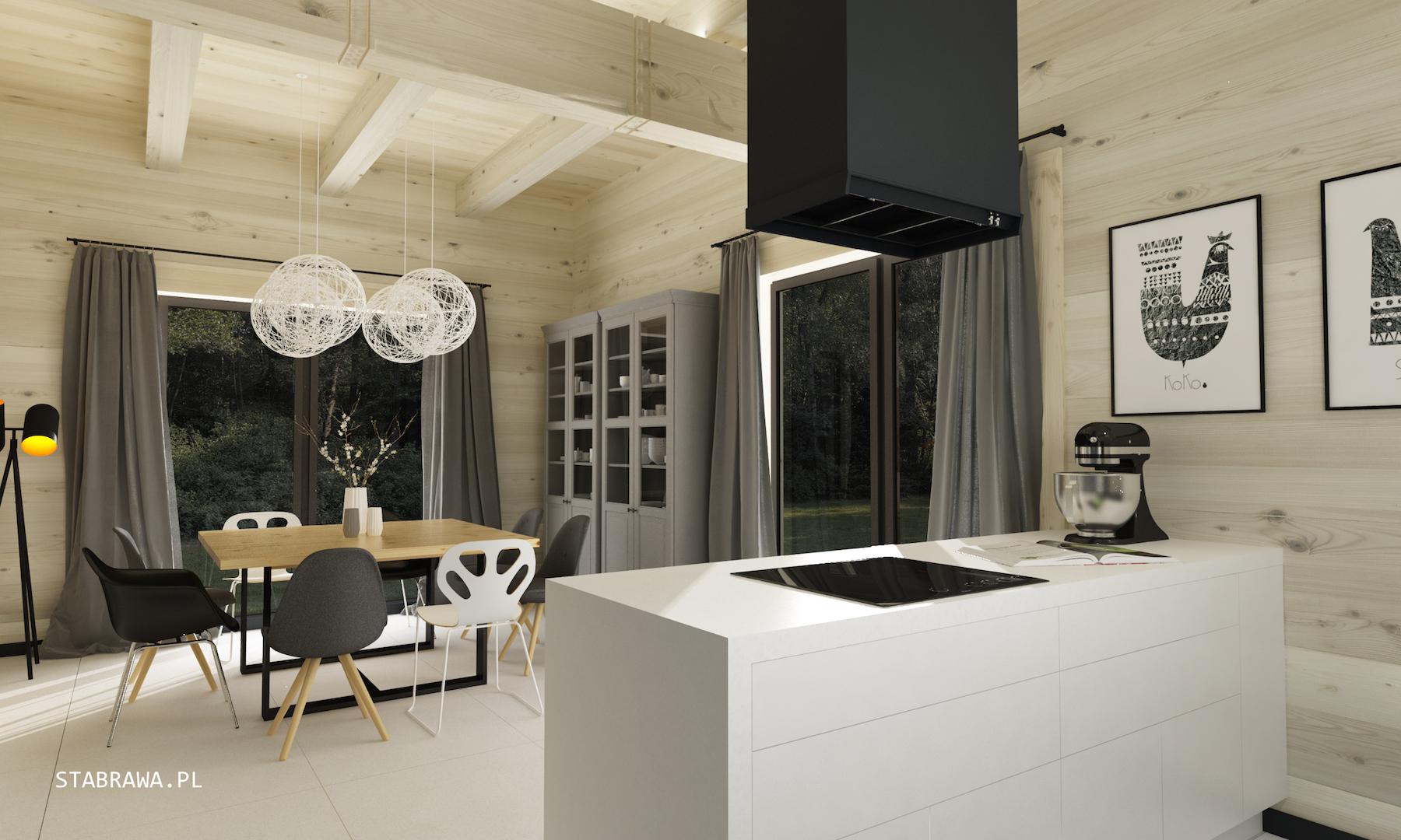 dom z płazów, dom z bali, stabrawa, projekt stabrawa, blog stabrawa, wnętrze domu drewnianego, styl nowoczesny i rustykalny