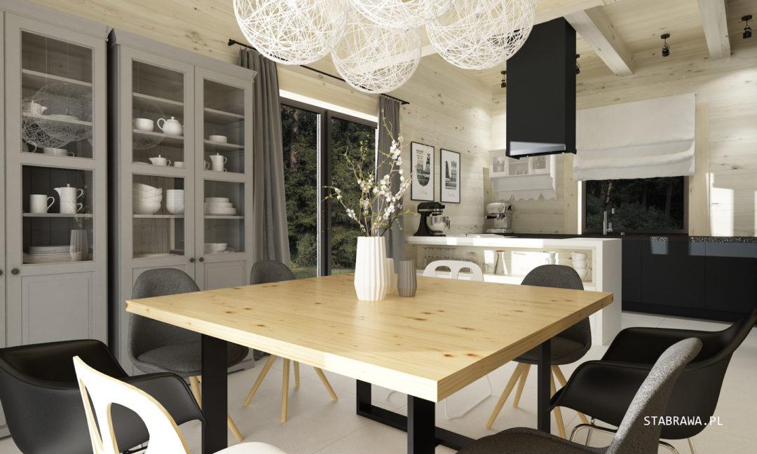 wnętrze domu z płazów, dom z płazów, dom z bali, stabrawa, projekt stabrawa, blog stabrawa, wnętrze domu drewnianego, styl nowoczesny i rustykalny