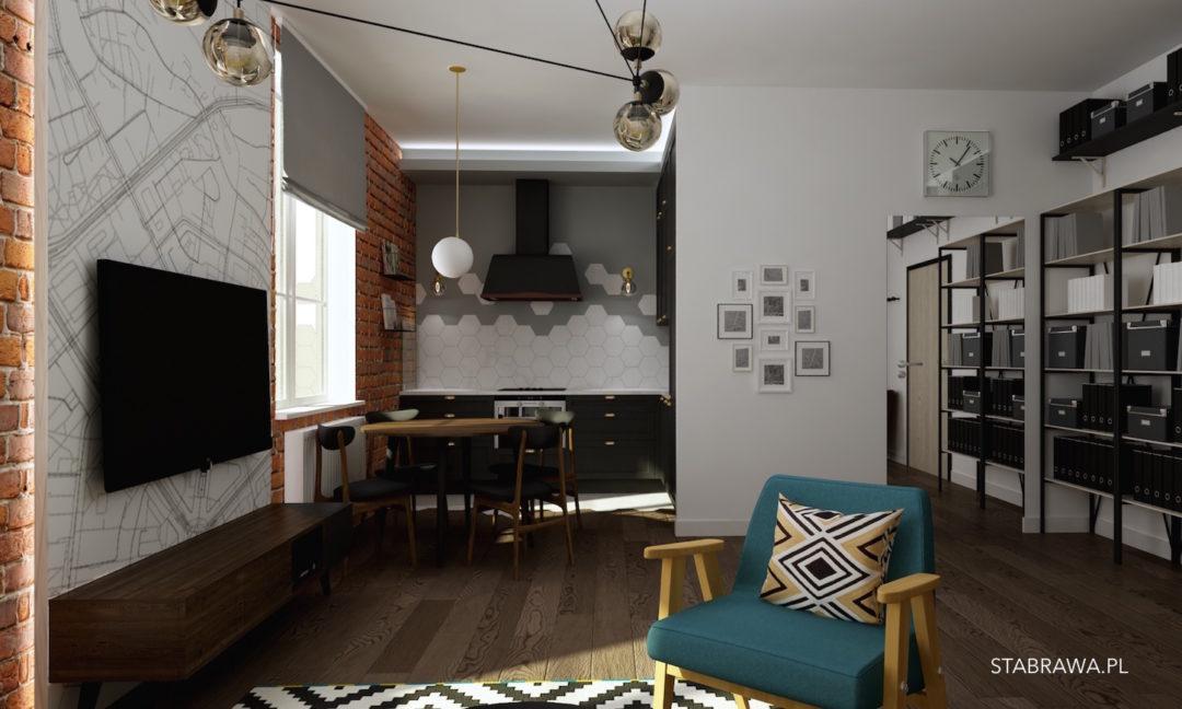 Blogstabrawa Cegła Loft I Prl Czyli Projekt Mieszkania Blog