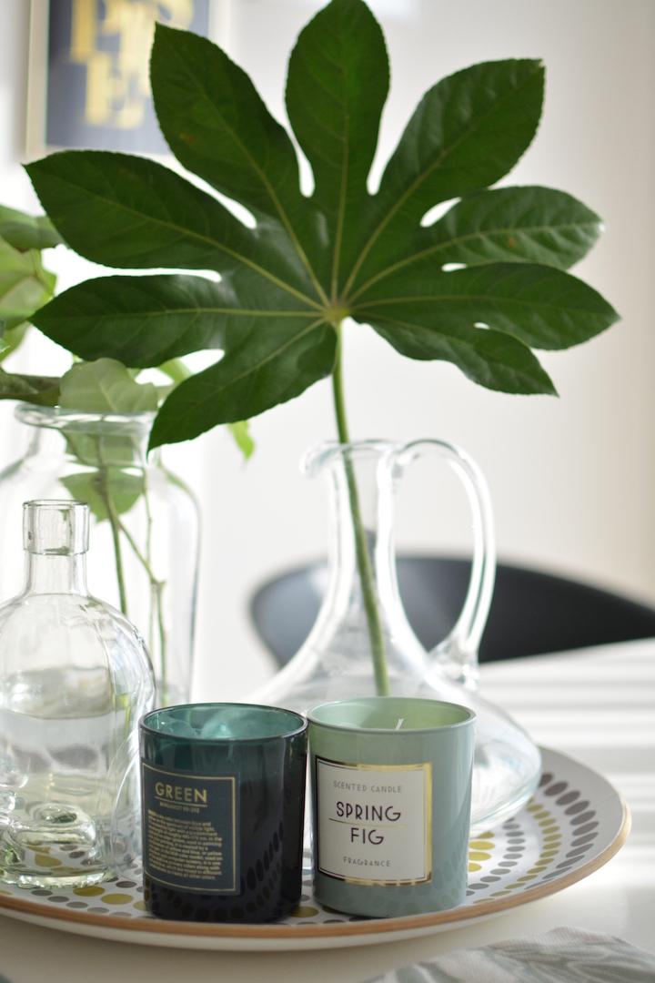 wiosenne dodatki do domu, wiosna, stylizacja wiosenna, zieleń, styl botaniczny, urban jungle, greenery